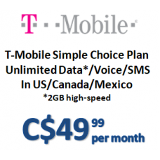 T-Mobile Simple Choice Plan (Monthly)