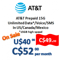 AT&T Prepaid 15G (Monthly)