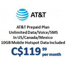 AT&T Prepaid Plan (Monthly)