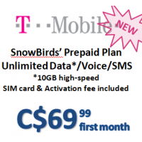 Snowbird Plan - T-Mobile Simply Prepaid (Monthly)