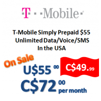 T-Mobile Simply Prepaid $55 (Monthly)